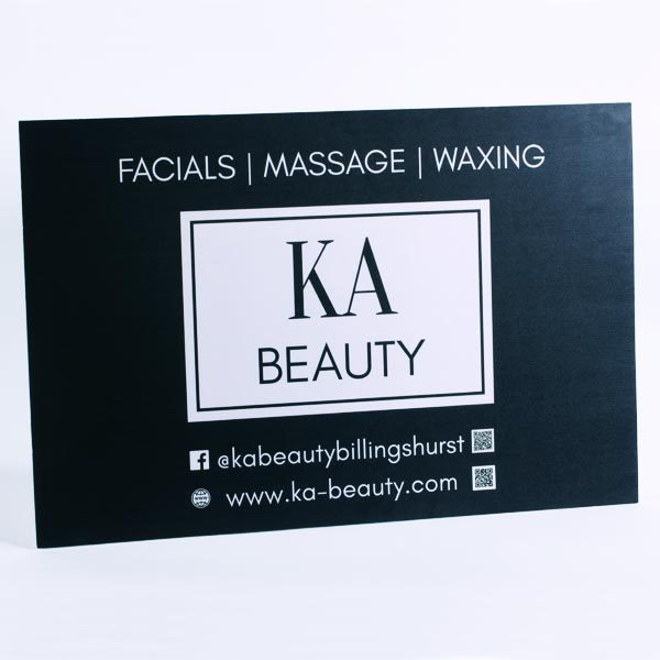 KA Beauty - Logo Board