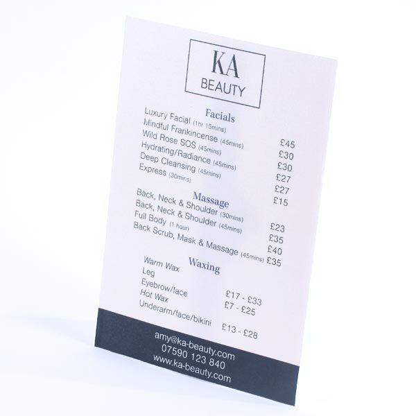 KA Beauty - Price List